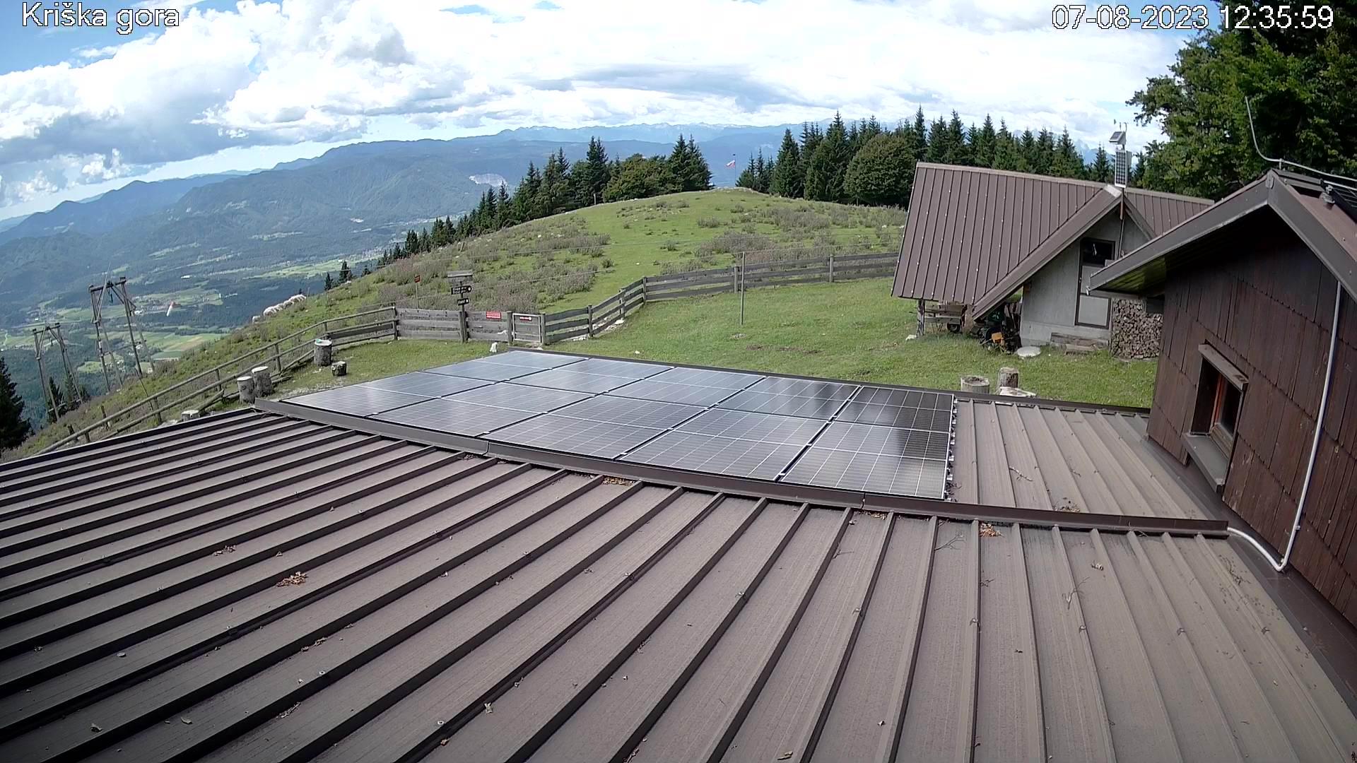 Spletna kamera Kriška gora SW